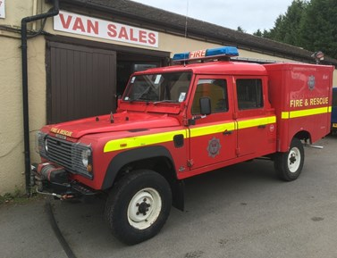 Land Rover 127 ORIGINAL V8 DOUBLE CAB FIRE ENGINE